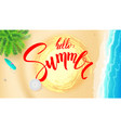 summer beach seashore for touristic events travel vector image