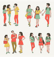 talking people smiling young women and men vector image vector image
