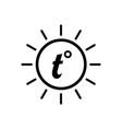 temperature icon good sunny weather symbol vector image vector image