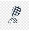 tennis concept linear icon isolated on vector image