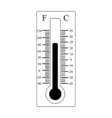 Thermometer icon Weather sign vector image vector image