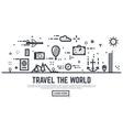 travel world linear vector image