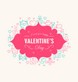 valentines day decorative card vector image vector image