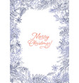 vertical christmas postcard template decorated by vector image vector image