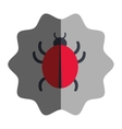 virus infection bug icon vector image vector image