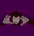 werewolf costume design reaching vector image vector image