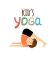 Yoga kids logo with boy