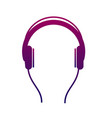 earphone icon listen to stereo music with an vector image