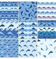 sea dolphin pattern vector image