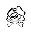 simbol of pirate vector image