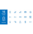 15 access icons vector image vector image