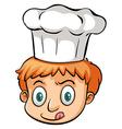 A chef vector image