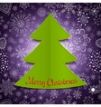 abstract christmas tree and violet background vector image