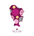 abstract textured bubbles girl portrait silhouette vector image
