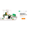 arab woman boss using laptop workplace office desk vector image vector image
