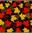 autumn seamless background maple leaves in vector image