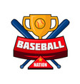 baseball nation emblem vector image vector image