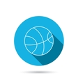 Basketball icon Sport ball sign vector image vector image