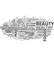 beauty foods that will keep you young and healthy vector image vector image