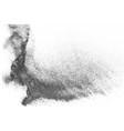 black halftone dotted backdrop vector image vector image