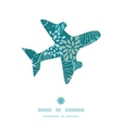 blue and gray plants airplane silhouette pattern vector image vector image