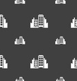 Buildings icon sign Seamless pattern on a gray vector image vector image