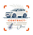 car contract deal signed vector image vector image