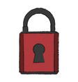 cartoon padlock security vector image