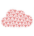 cloud mosaic of biohazard icons vector image