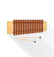 color flat style wood xylophone vector image