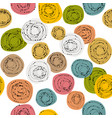 colorful seamless background with doodle circles vector image vector image