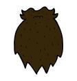 comic cartoon fake beard vector image vector image