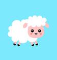 cute funny sweet sheep flat vector image