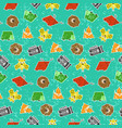 cute kids pattern with textured animals vector image vector image
