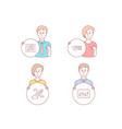 education startup rocket and musical note icons vector image