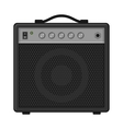 Electric Guitar Amplifier on White Background vector image vector image