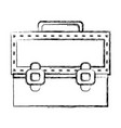 figure elegant briefcase to save important vector image vector image