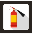 Fire extinguisher icon flat style vector image vector image