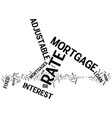 fixed rate mortgage text background word cloud vector image vector image