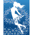 Forget-me-not flowers vector image vector image