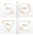frame wedding floral ornament handdrawn rose flowe vector image