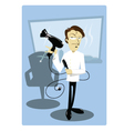 Funny Coiffeur vector image vector image