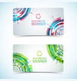 futuristic card banners set vector image vector image