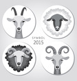 goat and sheep symbol of 2015 vector image vector image