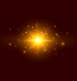 golden background with particles and light effects vector image