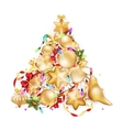 Golden Christmas background EPS 10 vector image