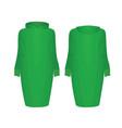 green hoodie dress vector image vector image