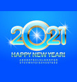 greeting card happy new year 2021 alphabet set vector image vector image
