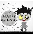 halloween crazy guy vector image vector image