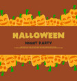 halloween night party background pumpskin vector image